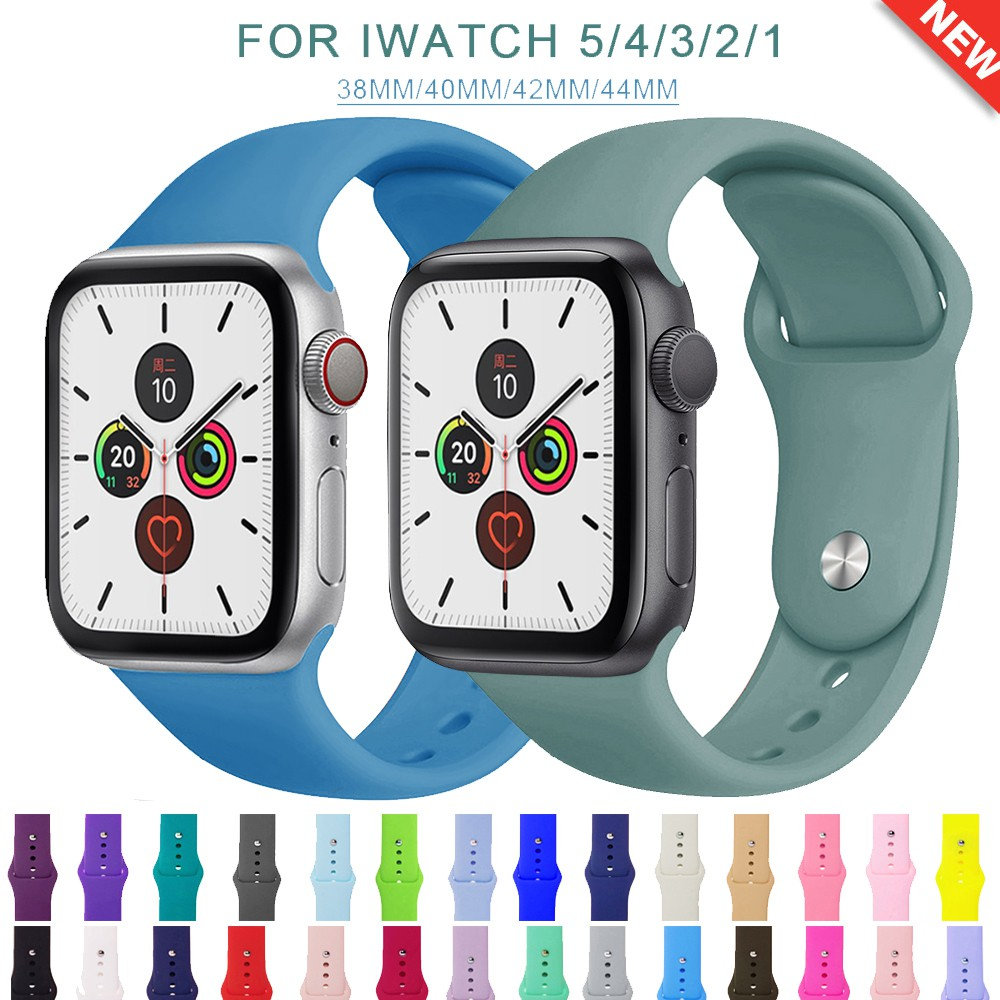 สายซิลิโคน  สำหรับ applewatch 38 มม. 40 มม. 42 มม. 44 มม. Series 5 4 3 2 1