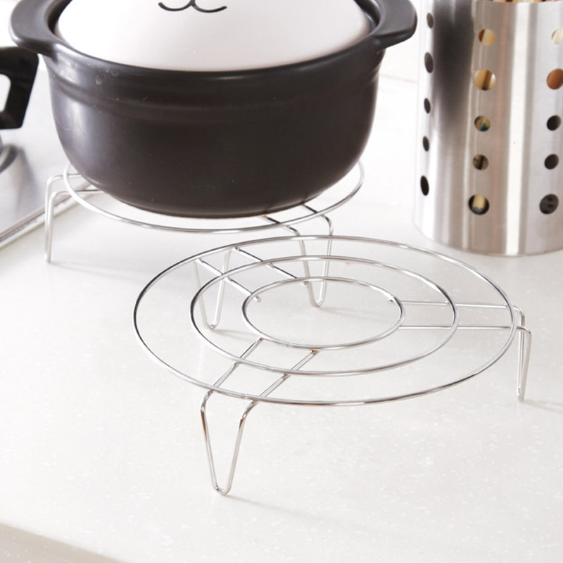 Stainless Steel Steamer Rack Multi-Purpose Steam Tray Stock Pot Steaming Tray Stand Kitchen Cookware rice cooker