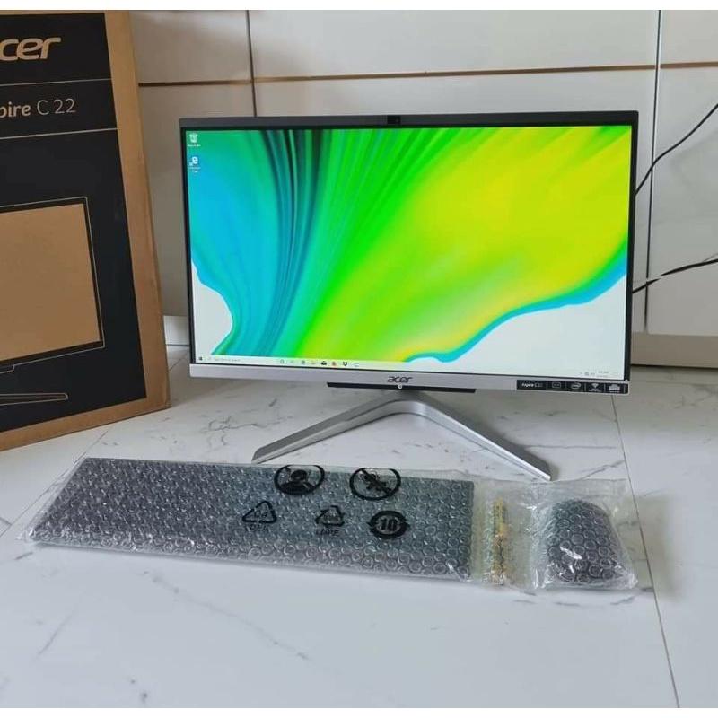 """ACER All in one C22-960 Core i5-10210U Ram 8 GB DDR4-SSD 256 GB+HHD 1 TB-21.5""""FHD Windows 10 Home-Warranty 5/2023"""