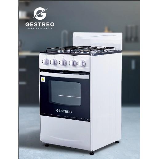 GESTREO เตาแก๊ส 4 หัว พร้อมเตาอบ รุ่น GS-K50-Q01W 4-Burner Gas Stove with Oven