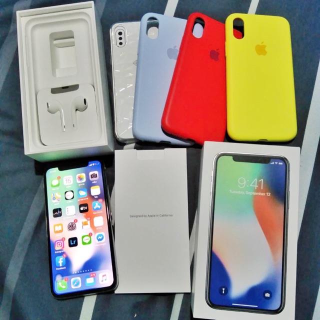 iphone x 64gb TH white เครื่องศูนย์ไทย มือสอง อุปกรณ์แท้ ยกกล่อง จัดส่งฟรี