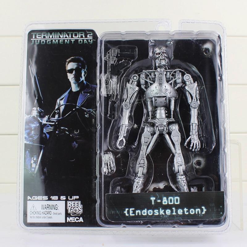 "NECA The Terminator 2 Action Figure T-800 ENDOSKELETON Classic Figure Toy 7""18cm"