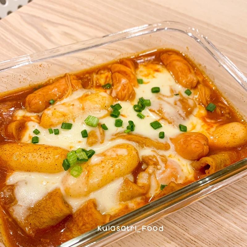 ต๊อกบกกีชีส เซตต๊อกชีสKulasatri_Food ต๊อกชีส โอเด้ง ซอสเข้มข้นอร่อยมากกก