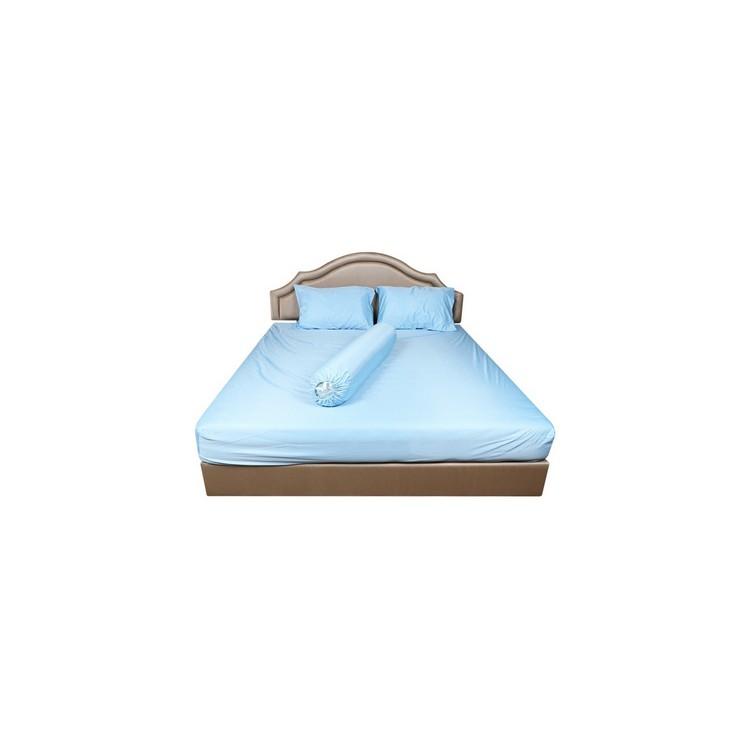 ส่งฟรี ผ้าปู Q5HOME LIVING STYLE 375TC SEEN WATERPROOF BLUE | HOME LIVING STYLE | ผ้าปู Q HLS กันน้ำ BL ผ้าปูที่นอน ผ้าป