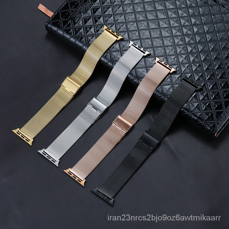 Watch Band for Apple Watch Replacement Stainless Steel Bracelet Mesh Strap 38mm 40mm for iwatch series 5/4/3/2/1 42mm 44