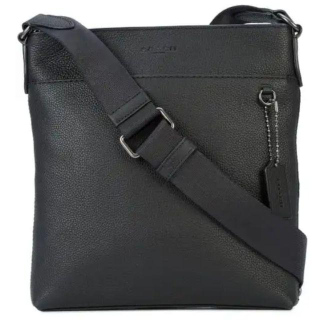 ส่งต่อ!! ของแท้100% กระเป๋าสะพายข้างผู้ชาย COACH SLIM MESSENGER BAG สีดำ  (หนังแท้ทั้งใบ)