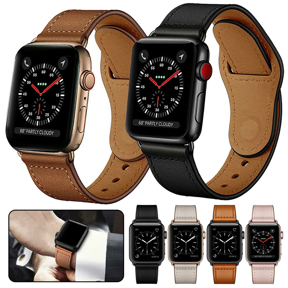Apple Watch Series 5 4 3 2 1 Genuine Leather Band Strap iWatch 38/42/40/44mm【Exquisite strap】