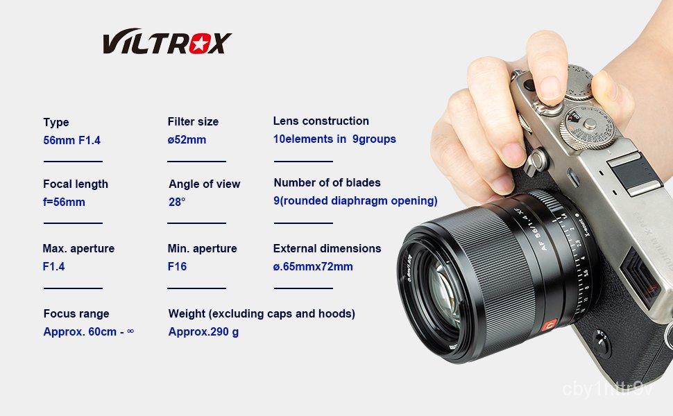 Viltrox 56mm f1.4 STM Autofocus lens for Fuji X-mount Mirrorless cameras X-Pro3 X-T2 X-T3 X-T4 X-T20 XT-30