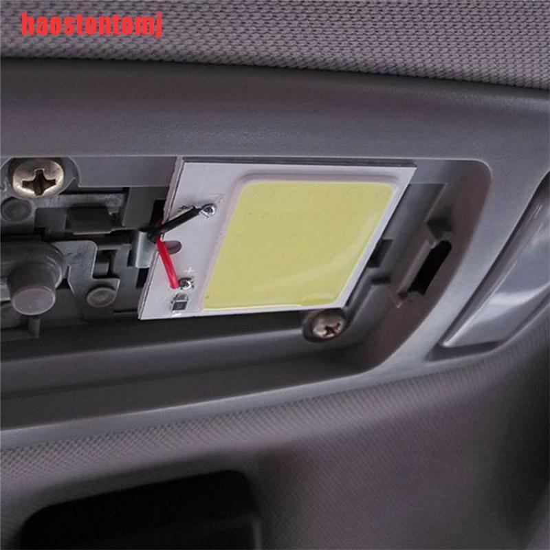 [Haostontomj] 48 SMD COB LED T10 4W 12V แผงหลอดไฟโคมไฟติดภายในรถยนต์