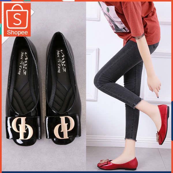 รองเท้าคัชชู ใส่สบาย สำหรับผู้หญิง รุ่นสีเรียบใส่ทำงาน รองเท้าเด็ก 2020 ฤดูใบไม้ผลิใหม่สแควร์หัวเข็มขัดนุ่มด้านล่างรองเท
