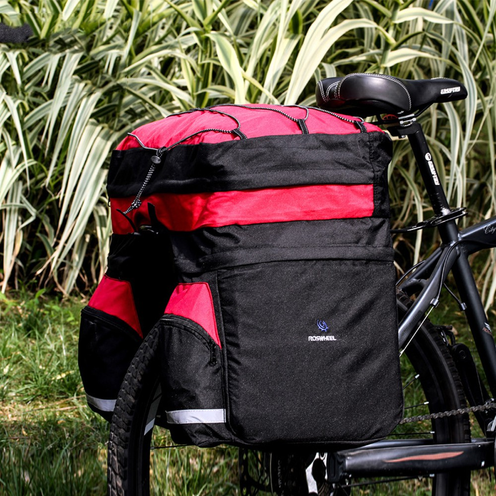 ROSWHEEL 60L Waterproof Polyester Mountain Road Bicycle Bike Bag Cycling Double