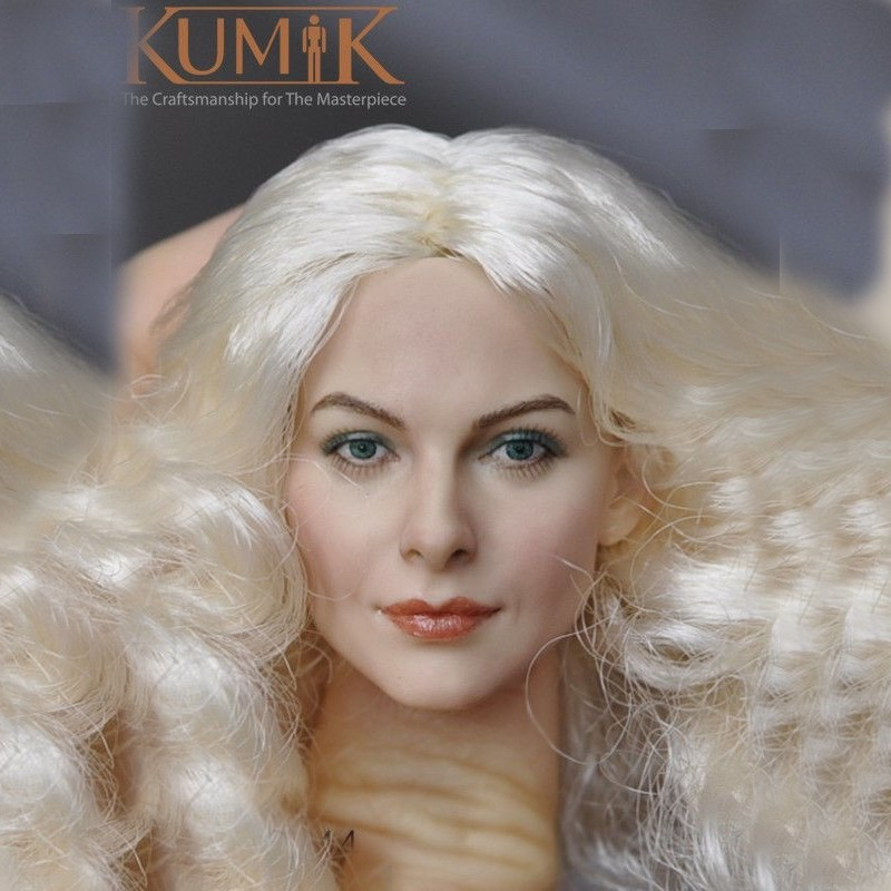 1//6 KUMIK  Female Head Sculpt KM-036  PVC Fit Action Doll Figure Model