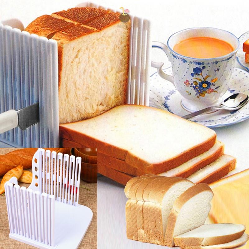 Bread Slicer Kitchen Slicing Guide Foldable Toast Slicer Baking Tools