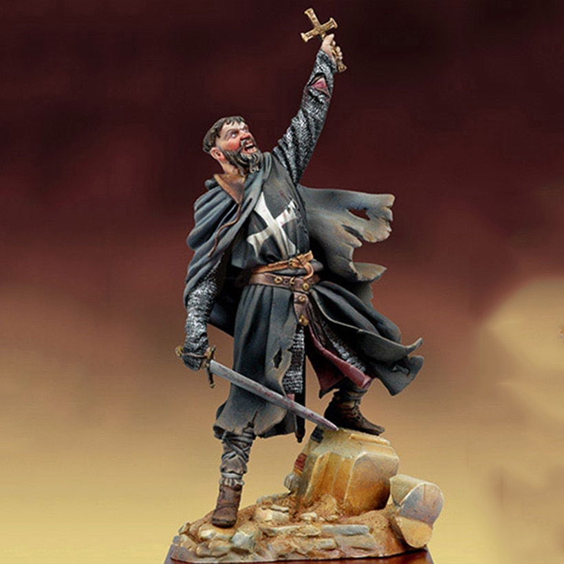 1/18 Scale Unpainted Resin Figure The Wrath of God Crusader (base included) GK figure