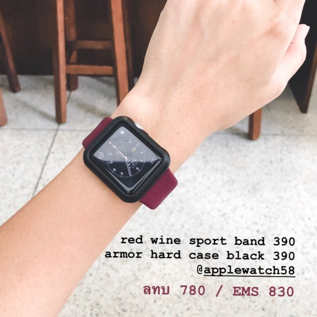 สาย applewatch red wine  และ case