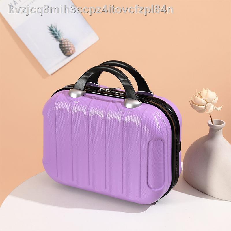 ⊙▫☌[สินค้าจากโรงงาน] กระเป๋าเครื่องสำอางกระเป๋าเดินทางขนาดเล็ก 14 นิ้วสามารถแขวนกระเป๋าเดินทางรถเข็น case accessories