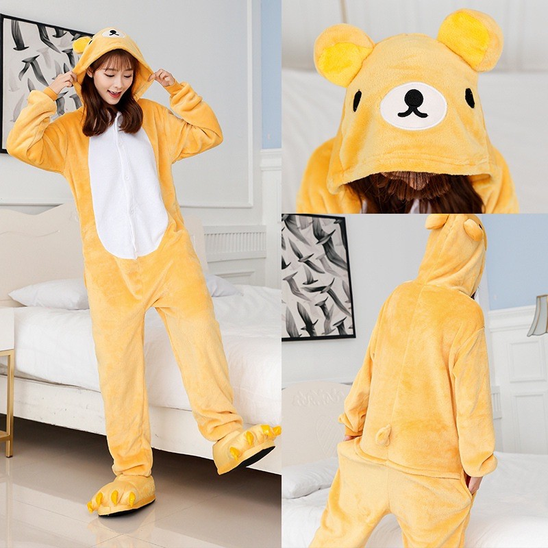 ชุดคุมะ ชุดหมีคุมะ ชุดมาสคอตคุมะ. หมีริลัคคุมะ ชุดแฟนซี ชุดขนสัตว์ ชุดปาร์ตี้ เสื้อกันหนาว