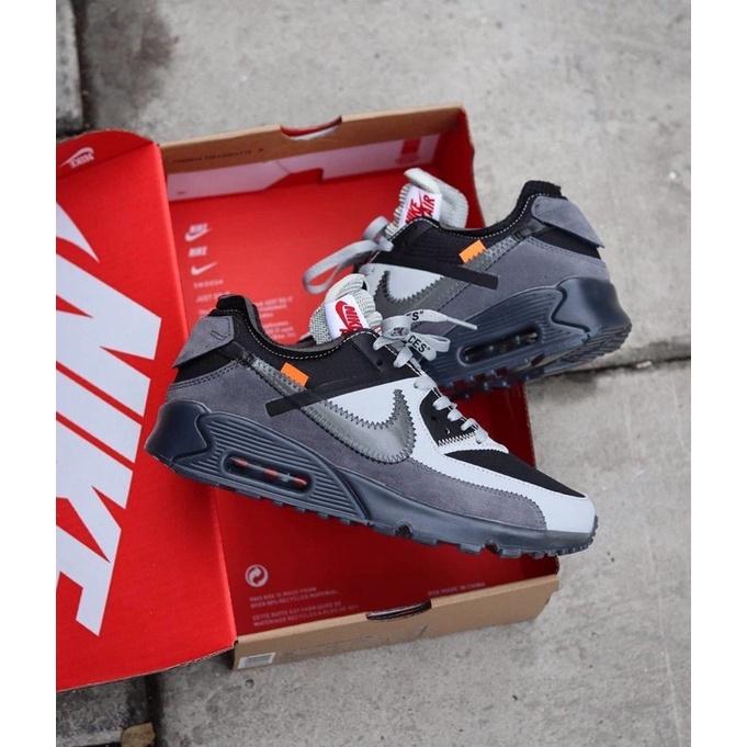 รองเท้าผ้าใบ Nike Airmax 90 สีขาวเทา