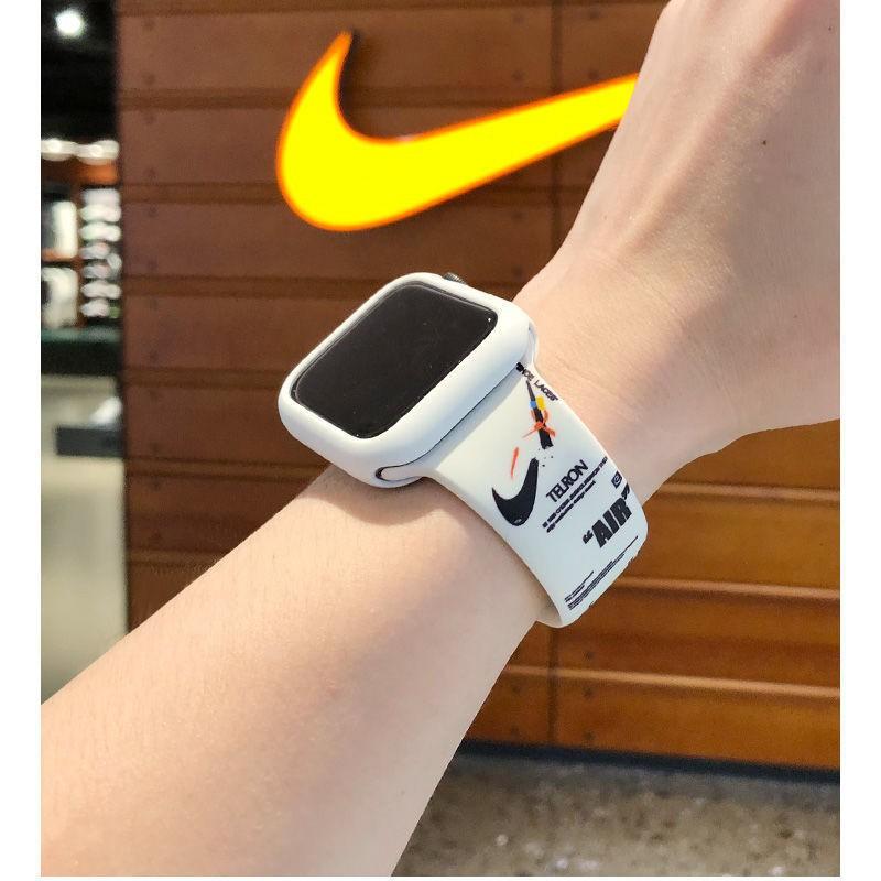 สาย applewatch สายนาฬิกา applewatch สายรัด iwatch6 ที่ใช้งานได้ Apple watch 6/5 รุ่น AJ บุคลิกภาพการพิมพ์แบรนด์น้ำสาย 6S