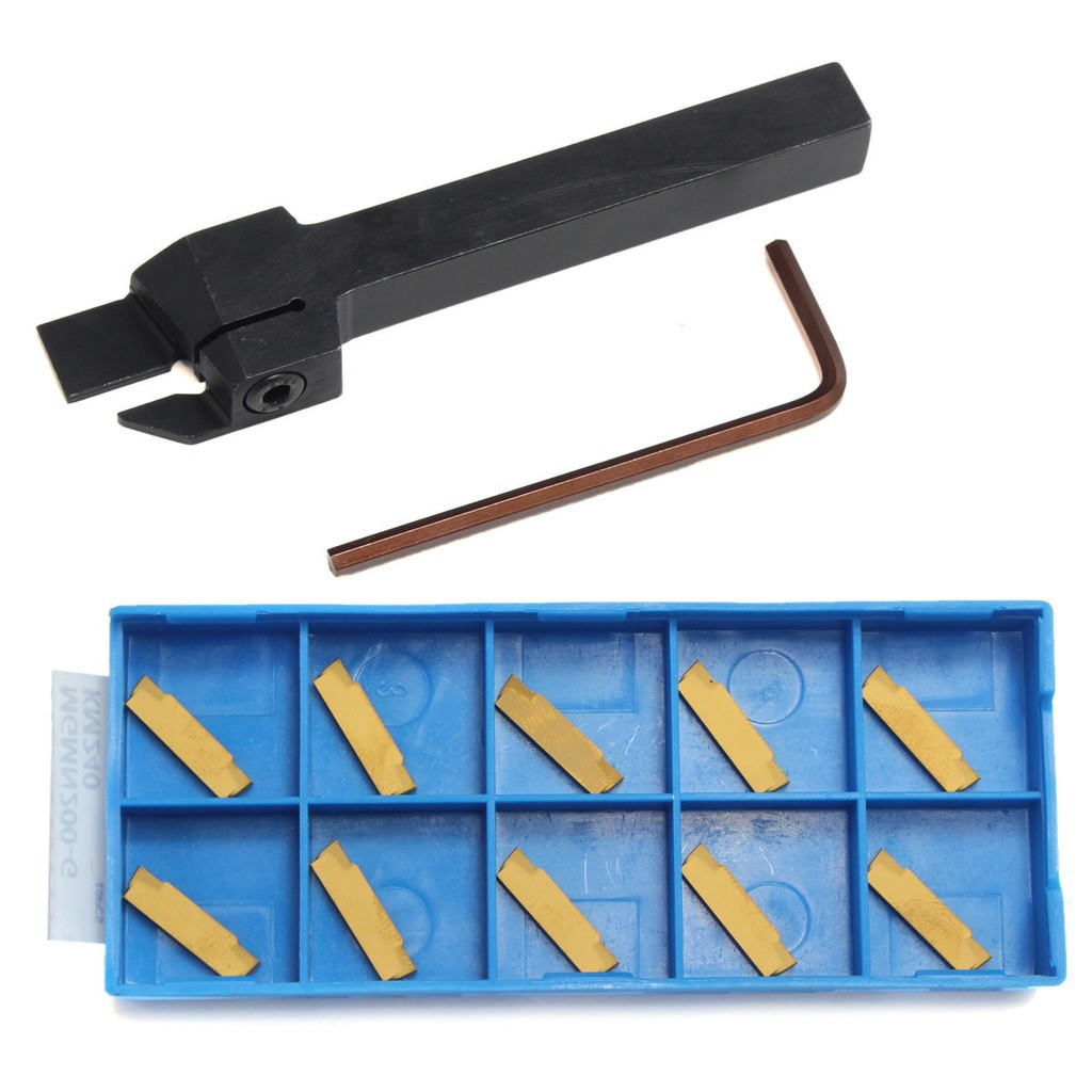 10pcs MGMN200-G Gold Carbide Insert MGEHR1010-2 10 x100mm Grooving Tool Holder