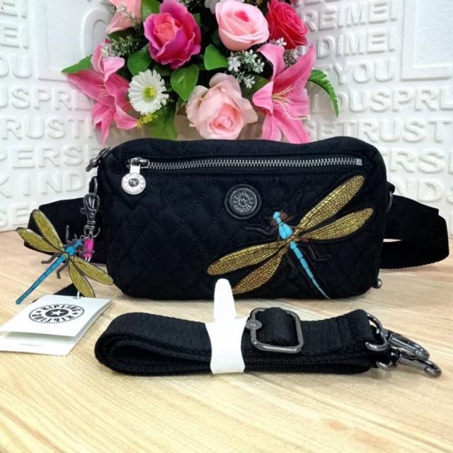 🤗Kipling รุ่น Halima convertible waist pack crossbody bag กระเป๋า collection ใหม่จาก Kipling รุ่น Halima  สีดำ