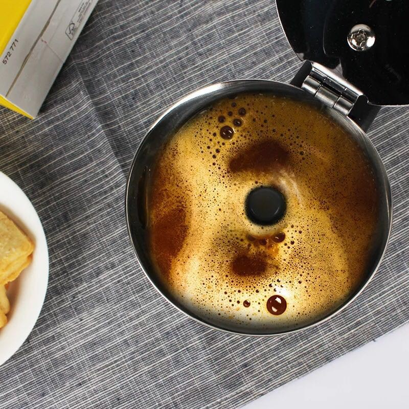 OMUDA_SHOP กาต้มกาแฟสดแบบพกพาสแตนเลส ขนาด 6 ถ้วยเล็ก 300 มล. หม้อต้มกาแฟแบบแรงดัน เครื่องทำกาแฟสด 300ml