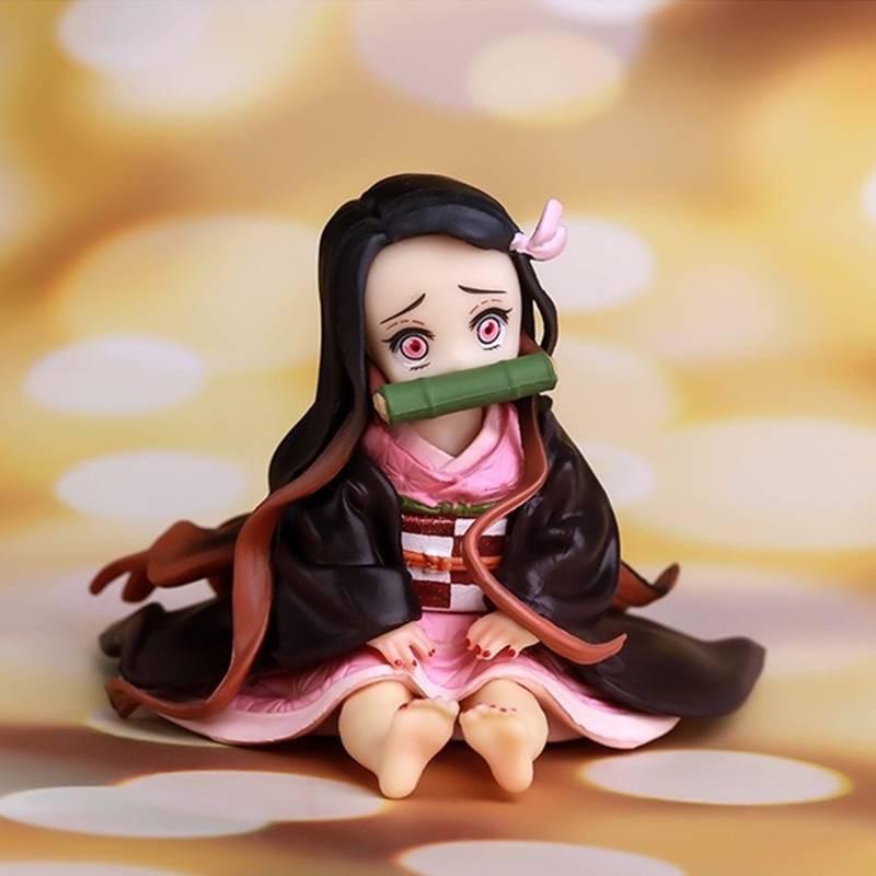ดาบพิฆาตอสูร Stove Gate Nidouzi Figure Demon Slayer Animation Peripheral Handheld Series Q Version Doll Model Decoration