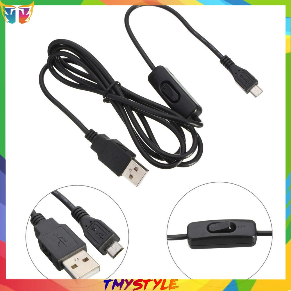 1.5m Micro USB Power Supply Charger Cable Wire ON//OFF Switch Raspberry Pi M