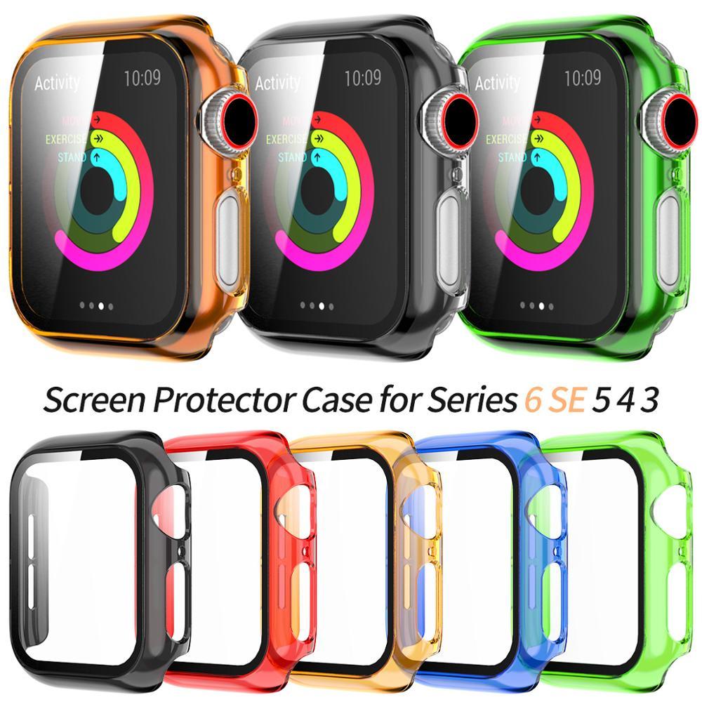 เคสป้องกัน Apple Watch Se Case Series 6 5 4 3 Pc 40mm 44mm 38mm 42mm Color Case