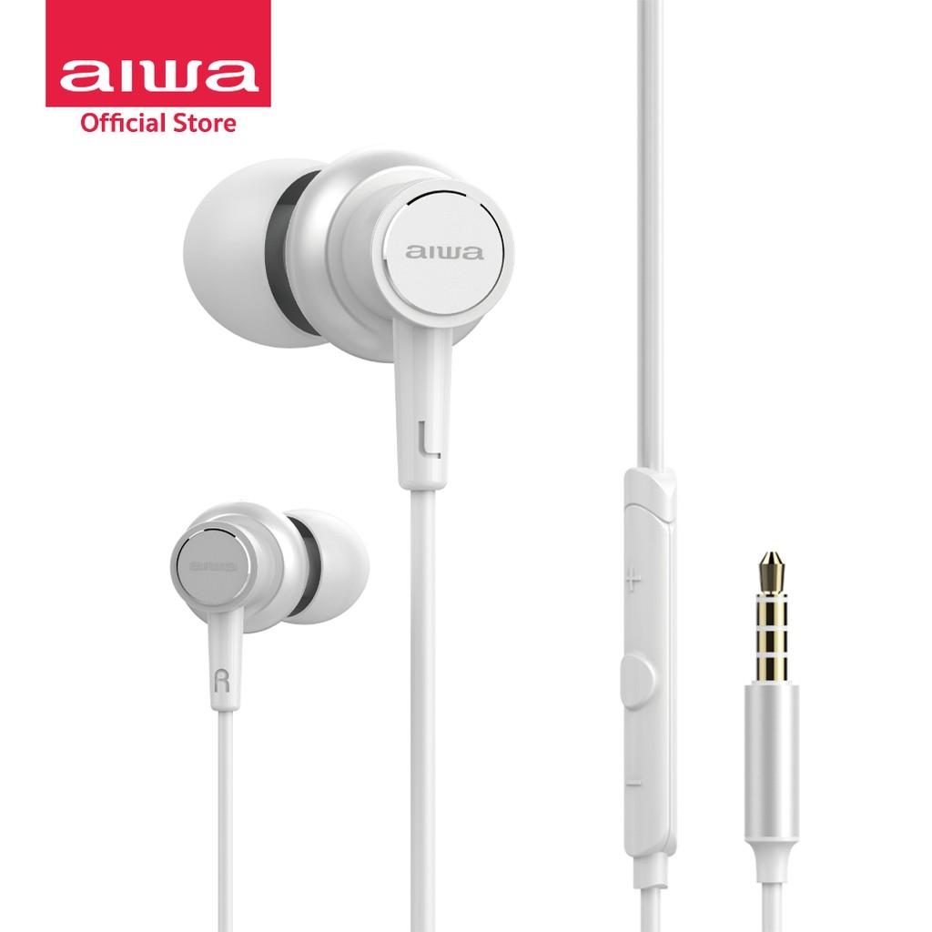 AIWA HP-VH50 Wired In-Ear Earphones หูฟังมีสาย 3.5 มม. Hi-Res Audio