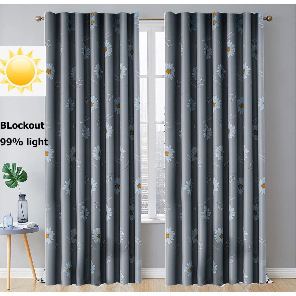 ผ้าม่านประตู กว้าง 1.3 X สูง 1.5 เมตร ผ้าม่านสำเร็จรูป ม่านตาไก่ ประตู ผ้ากันUV กันแดดได้ดีมากๆ ราคา/ผืน