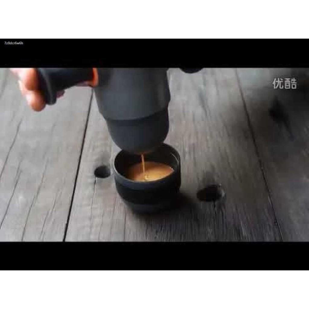 ราคาพิเศษ┅◈◈เครื่องชงกาแฟ เครื่องทำกาแฟ เครื่องบดกาแฟ เครื่องชงกาแฟแบบพกพา แรงดัน8บาร์ พกพาสะดวก ไม่ต้องใช้ไฟฟ้า สีดำ Lo