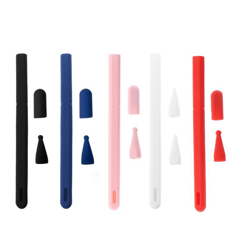 เคสซิลิโคนสําหรับ Apple Pencil 2 Case สําหรับ Ipad 2nd Tip Tip ปากกาสไตลัส 360 กระเป๋าเต็มจอ