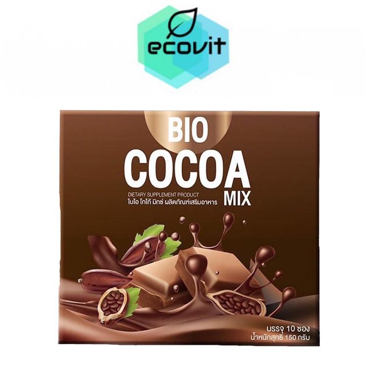 โกโก้ ผงโกโก้ Bio Cocoa mix khunchan ไบโอ โกโก้มิกซ์ เเบร์นคุณจันทร์ 150g. [1กล่อง/10ซอง]