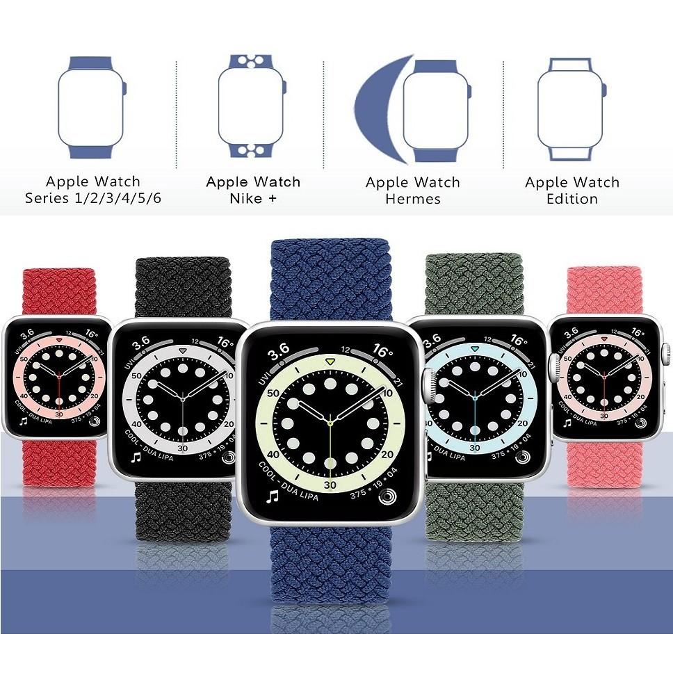 สาย applewatch สายนาฬิกา applewatch สาย Apple Watch Nylon Braided Solo Loop Strap สายนาฬิกา Apple Watch Elastic Bracelet