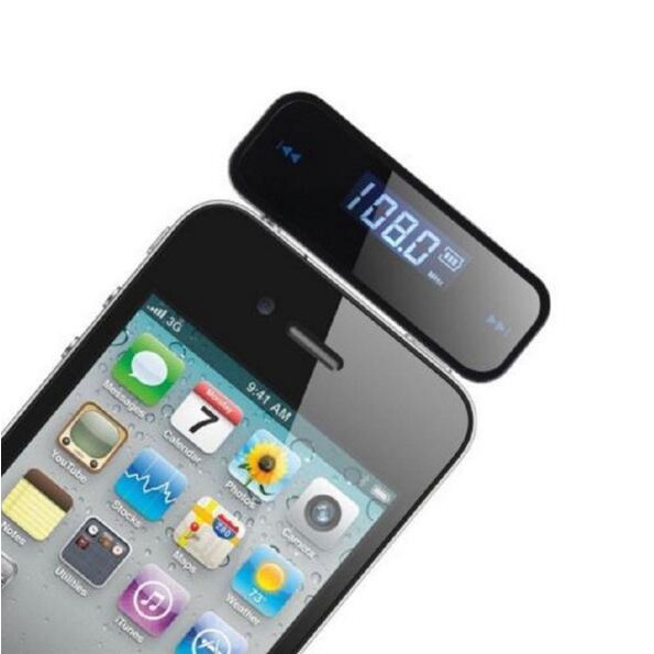 Wireless Music to Car Radio FM Transmitter For 3.5mm MP3 iPod Phones Tablets Pop