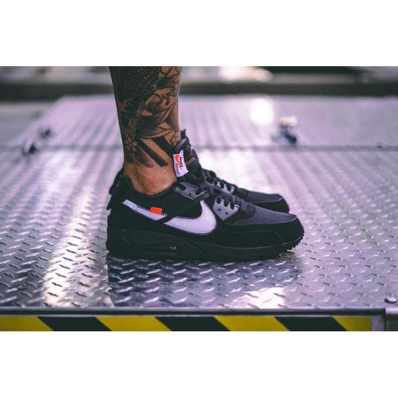 รองเท้าผ้าใบ Nike Airmax 90 X สีขาวดํา