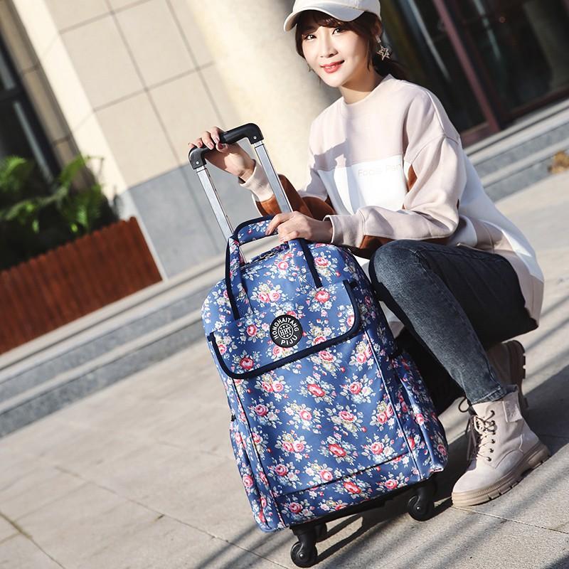 กระเป๋าเดินทางใบเล็กน่ารักกระเป๋าเดินทางใบเล็กกระเป๋าเดินทาง▽กระเป๋ารถเข็นผู้หญิงเบาระยะใกล้ กระเป๋าเดินทางล้อลากสากล รถ