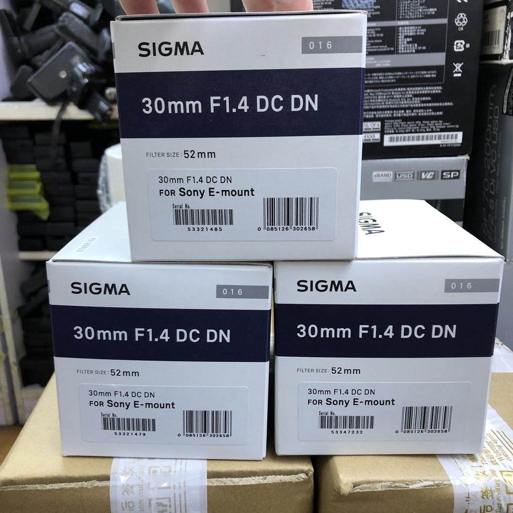 【ทนทาน】ซิกม่า30mm F1.4 DC DN Eพอร์ตสภาพ99ใหม่ การสนับสนุนไถ่ถอน30/1.4 16/1.4 56/1.4【ระดับ high-end】