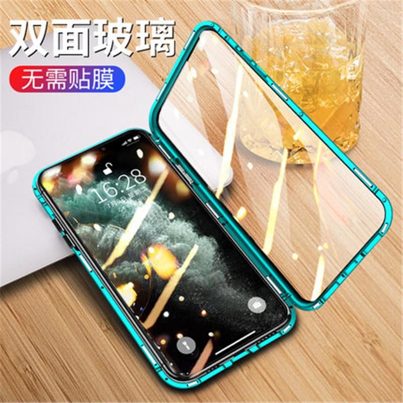 เคสโทรศัพท์มือถือกรอบโลหะแม่เหล็กสองด้านสําหรับ Iphone 13 Se2 1211