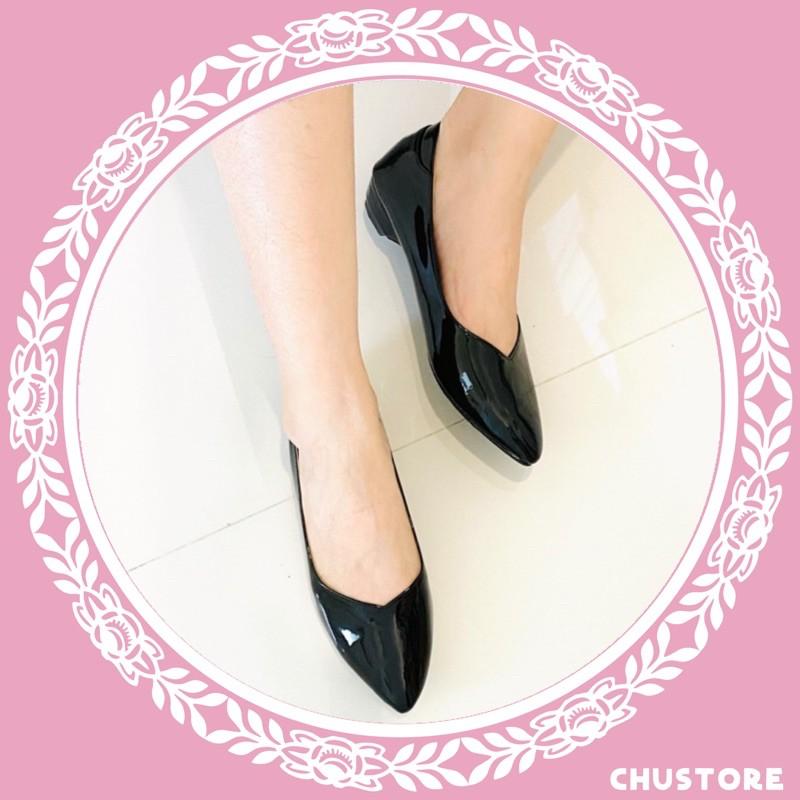 Chustore รองเท้าคัชชูหัวแหลมแฟชั่นผู้หญิง รุ่นใหม่9050ใส่นิ่มสบาย