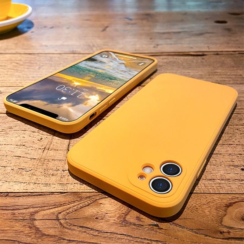 ☈♈△เคสไอโฟน Apple 11 case iphone11 camera lens all-inclusive 11promax new straight-edge liquid silicone 11pro ultra-th