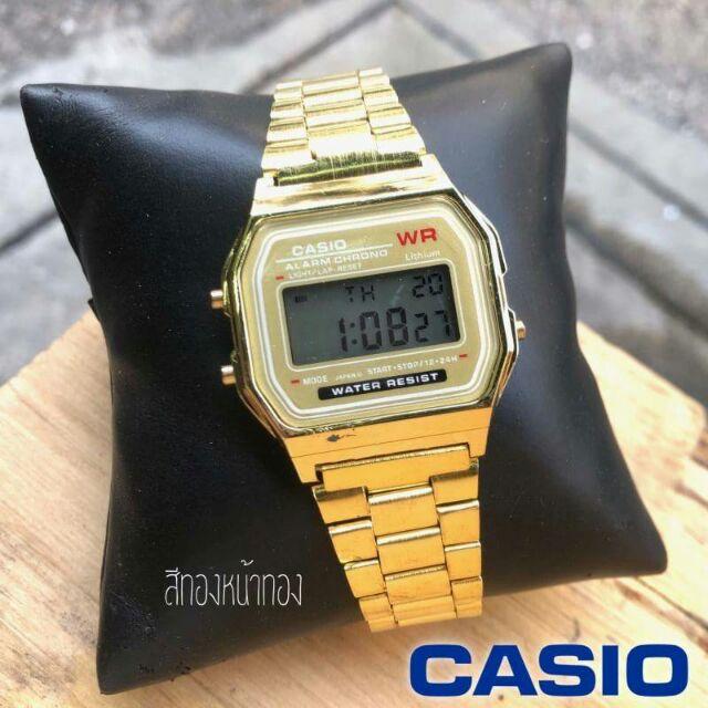 Casio นาฬิกาข้อมือผู้หญิง สายสแตนเลส สีทอง มีชำระเงินปลายทาง