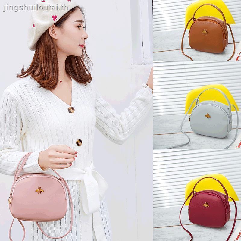 กระเป๋า mkanello กระเป๋าสะพายข้างกระเป๋าสะพายข้างcoach ผู้หญิงกระเป๋า 3d¤2019 autumn trend new female bag Korean style small bee fashion personality round portable messenger shoulder
