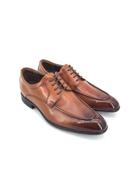 Saramanda รุ่น177080 Patrick I รองเท้าคัชชูผู้ชายหนังแท้ ทรงหัวแหลม แบบผูกเชือก สีน้ำตาล