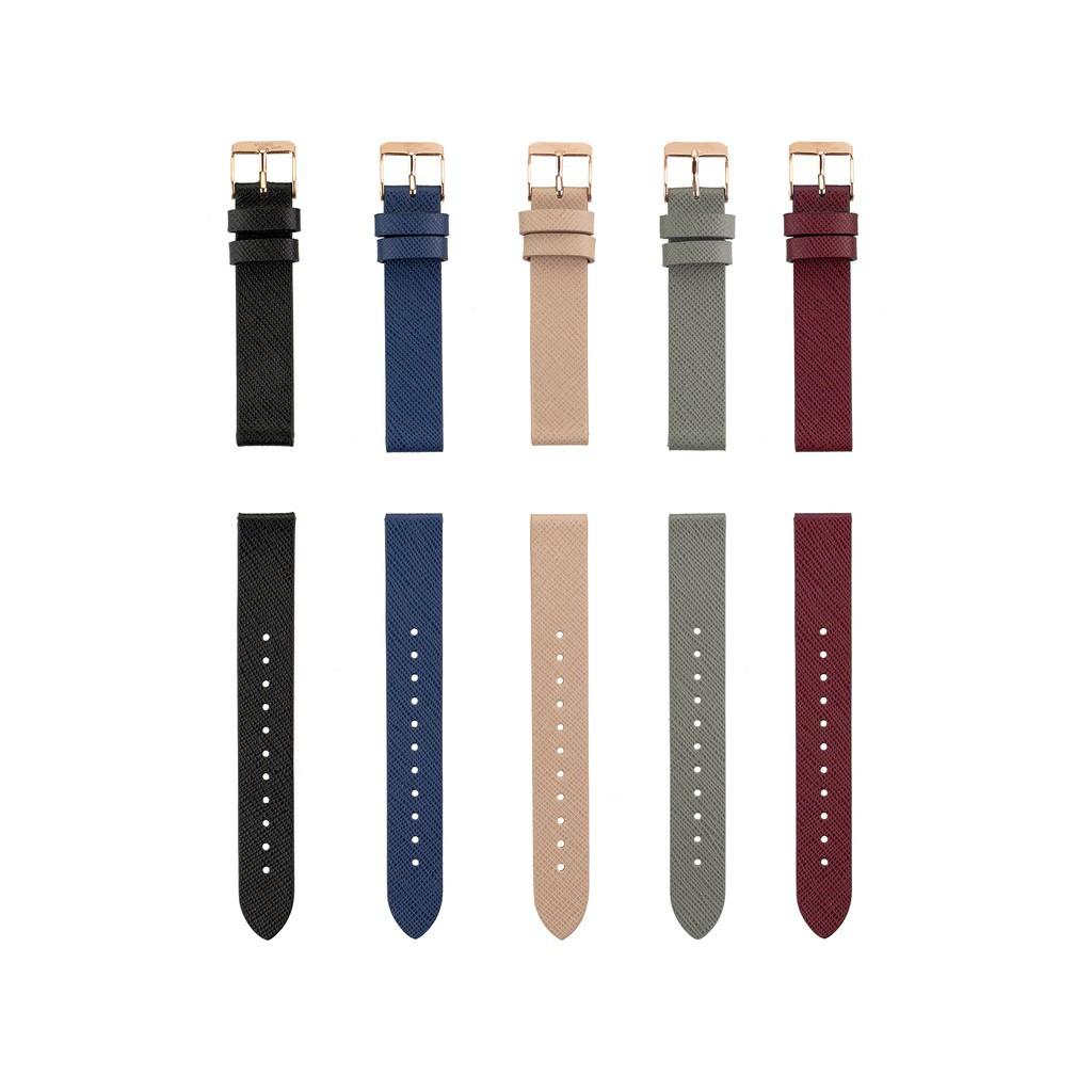 สาย applewatch สาย applewatch แท้ WISE สายหนัง นาฬิกาข้อมือ Saffiano ขนาด 16 มม.
