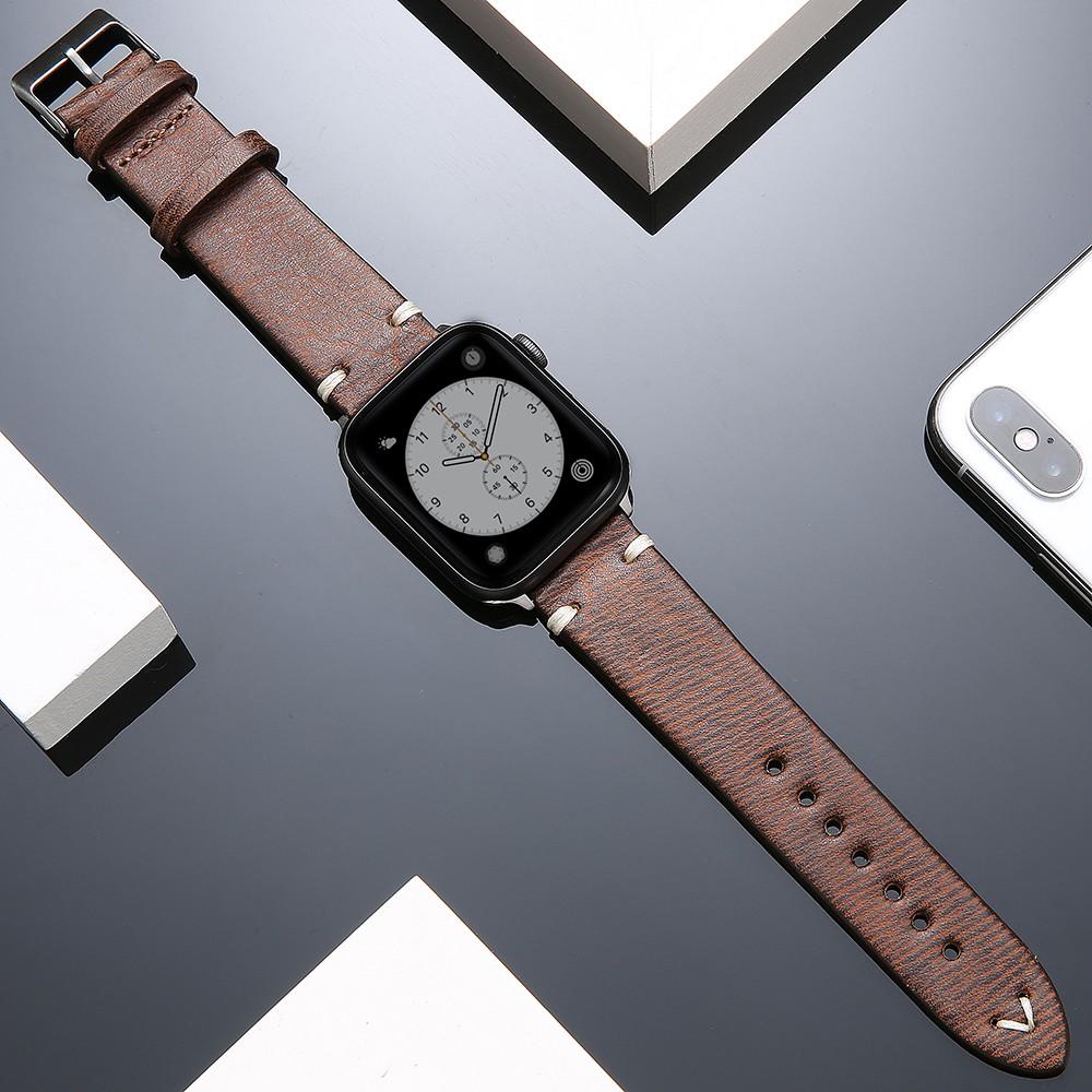 Suoke บังคับiwatchสายหนังapplewatch5สายนาฬิกาผู้ชายและผู้หญิงแฟชั่นใหม่สำหรับ Appleiwatch4/3/2/1รุ่น42mm38series5สายรัดร