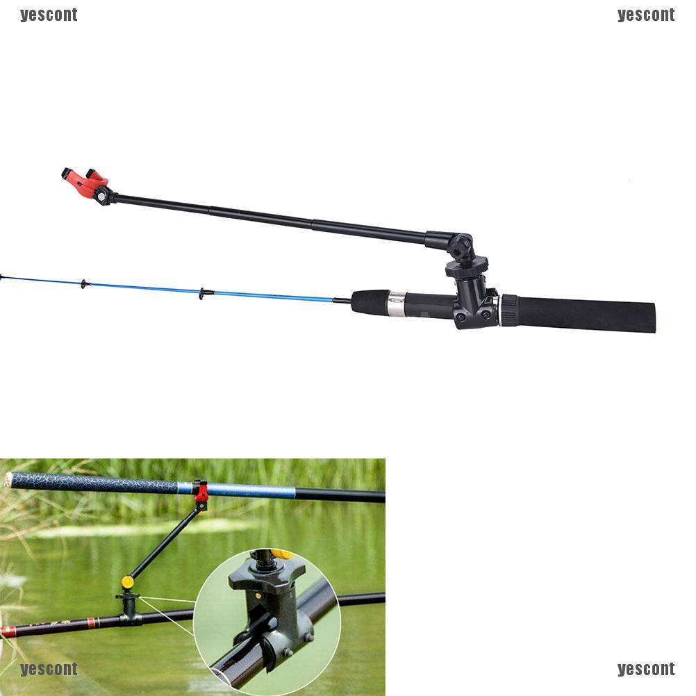 Fishing Rod Holder Stretched Extend Pole Stand Carbon Fiber Telescopic Brackets