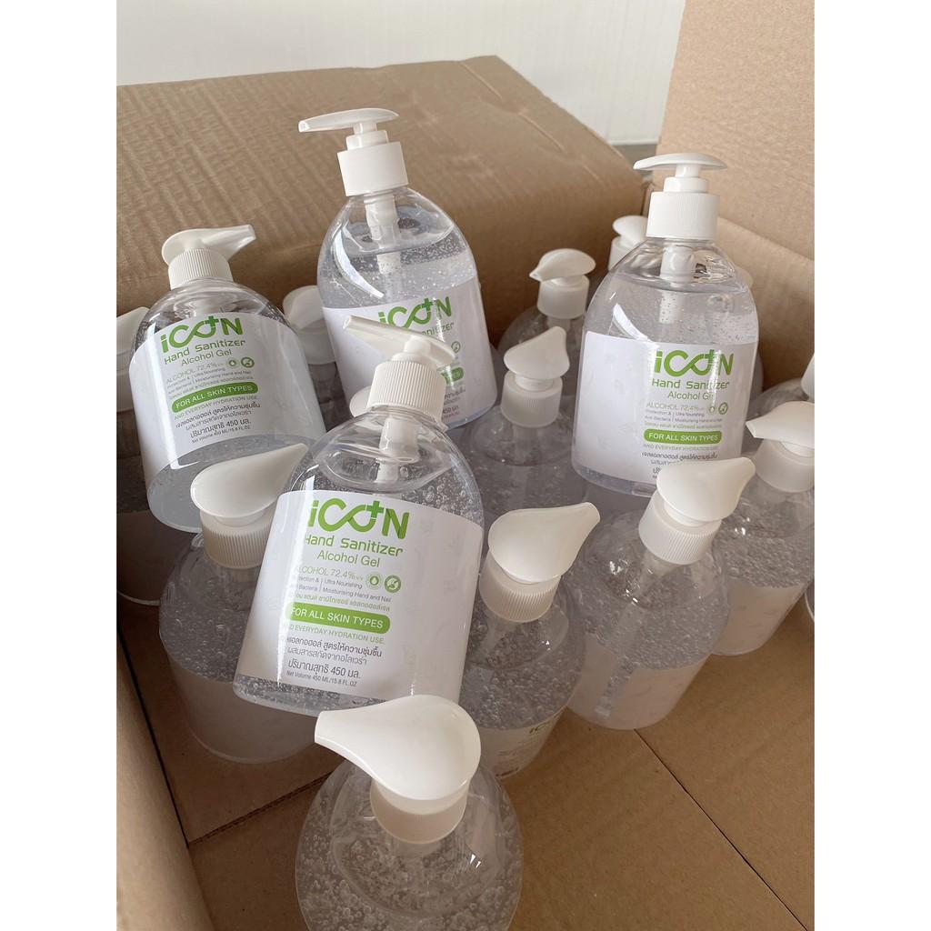 ส่งฟรี !!!!! เจลล้างมือ เจลแอลกอฮอล์ The ICON  450 ml 40ขวด มีอย พร้อมส่ง ราคาส่ง ขายส่ง ราคาถูก