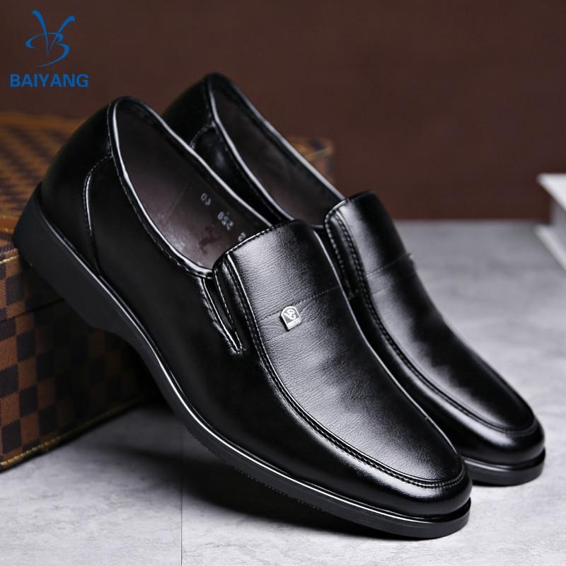 BY❤ รองเท้าหนังแท้ รองเท้าหนังแฟชั่น รองเท้าโลฟเฟอร์ ผู้ชาย loafer รองเท้า รองเท้าคัชชู รองเท้าหนังแบบผูกเชือก 02